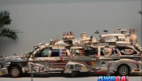 Автолюбитель из Финляндии создал лимузин из мусора