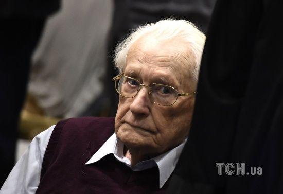 """Засуджений до чотирьох років за ґратами 96-річний """"бухгалтер Освенціма"""" просить про помилування"""