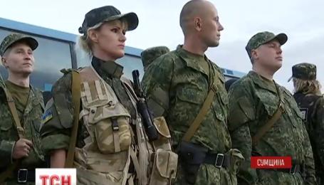 35 бійців зведеного загону правоохоронців Сумщини вирушили в зону АТО