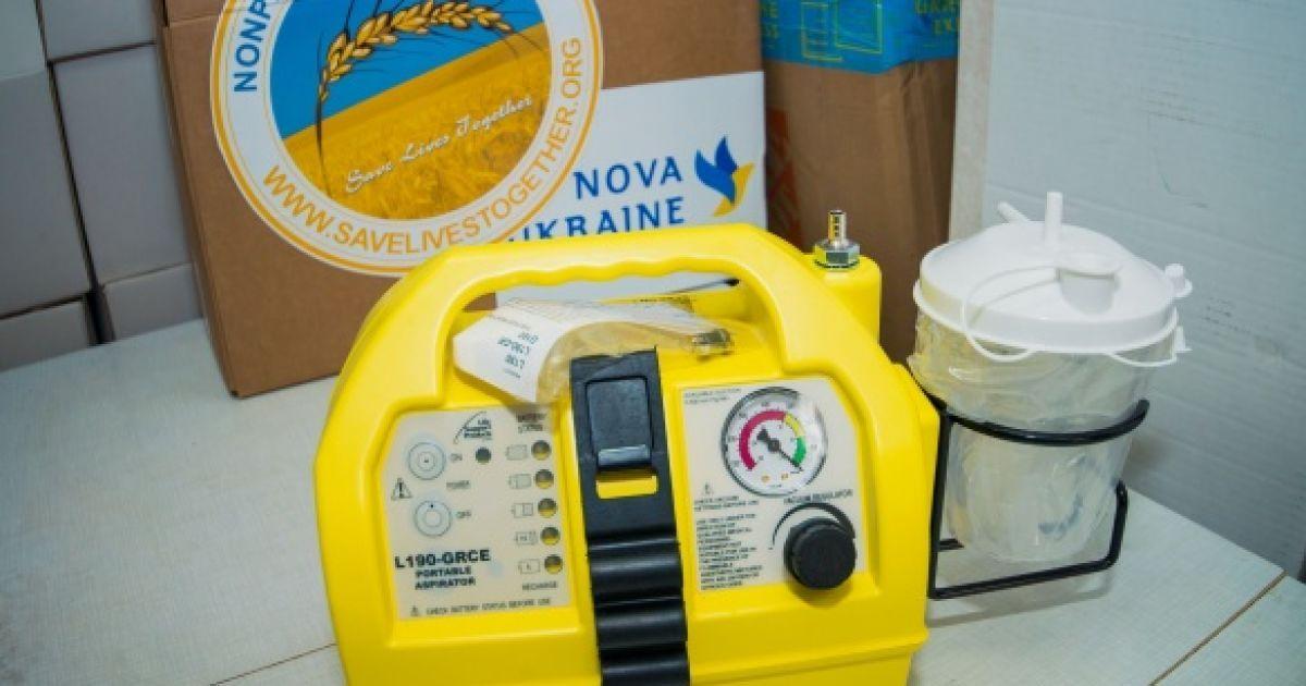 """Закупленное на средства """"Океана Эльзы"""" оборудования для украинских больниц @ пресс-служба канала """"1+1"""""""