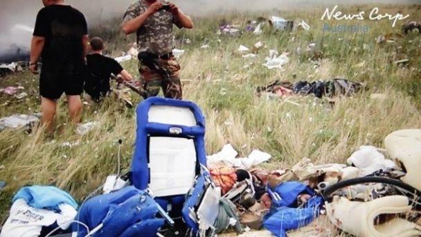 В Мережі з'явилися перші кадри після падіння MH17