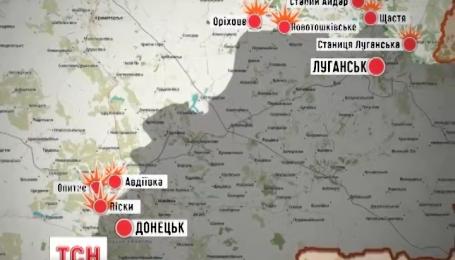 За ночь зафиксировали 40 обстрелов вдоль всей линии фронта