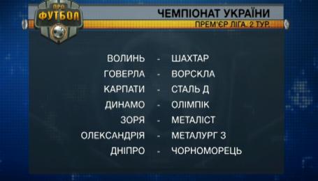 Анонс 2-го тура чемпионата Украины по футболу 2015/16