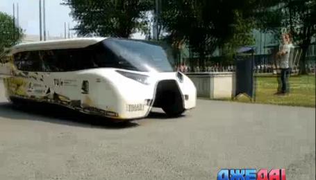 Нидерландские студенты разработали первое семейное авто на солнечных батареях