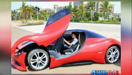 Китайский автолюбитель создал машину из стеклоткани