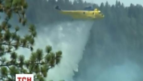 Площа пожеж у західній частині США розростається