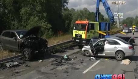 Смертельное ДТП с участием Porsche произошло на Новообуховском шоссе