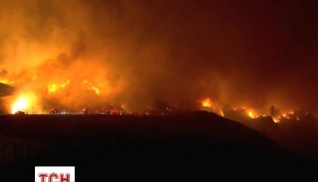 В США эвакуировали 500 человек из-за масштабного пожара