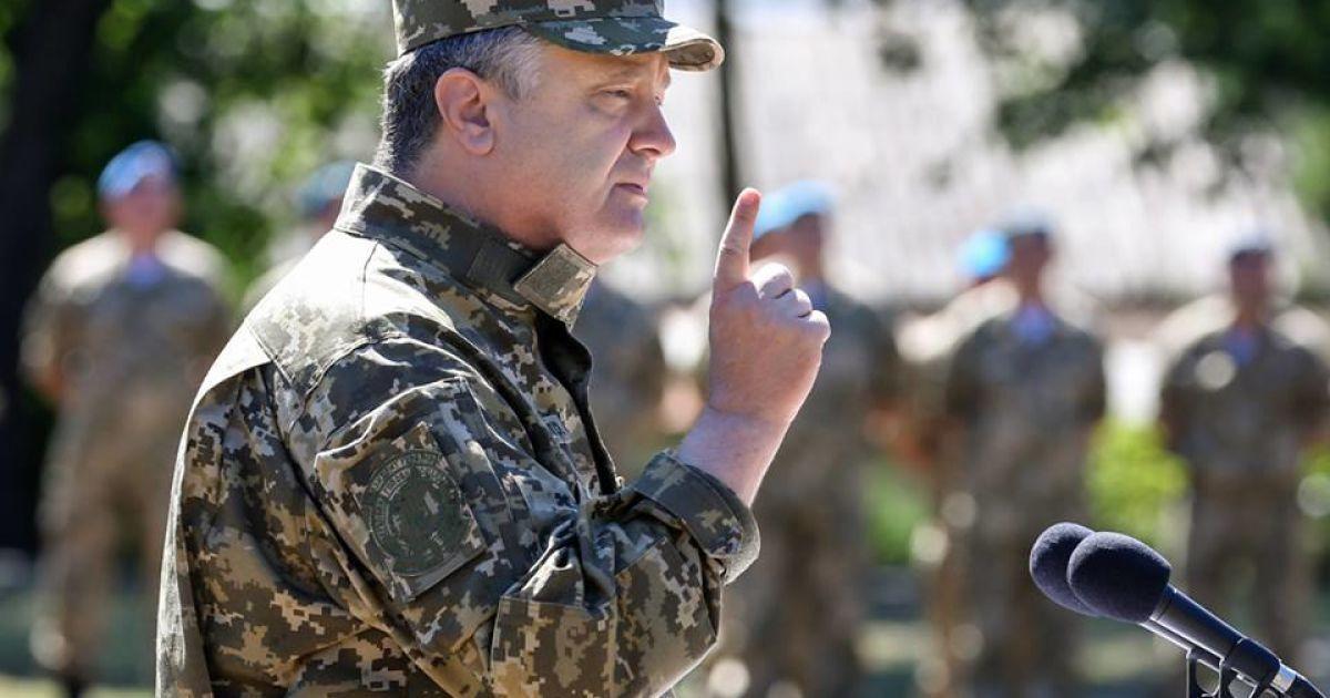 Порошенко собрал военное совещание из-за боев у Старогнатовки