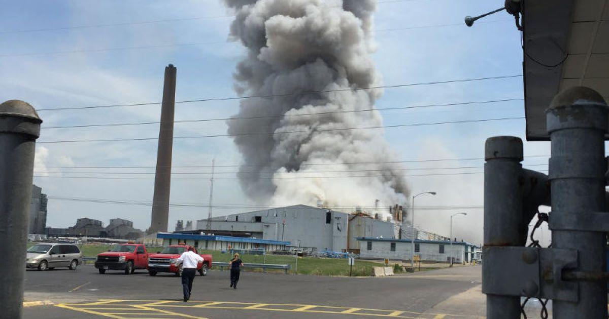 В США прогремел мощный взрыв на алюминиевом заводе