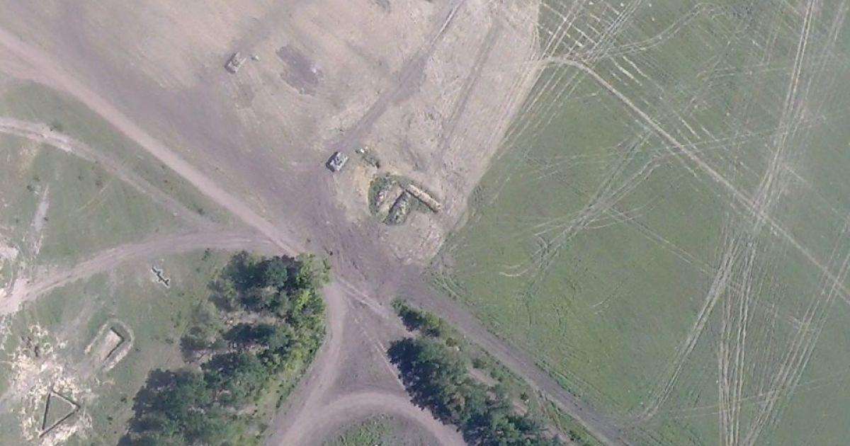 Беспилотник снял танковый полигон боевиков возле Енакиево @ Facebook/Юрий Касьянов
