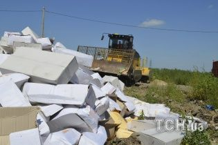 За півроку в Росії знищили 2,5 тисячі тонн продуктів