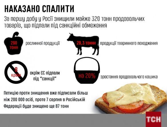 Їжа, санції, Росія, іфнографіка