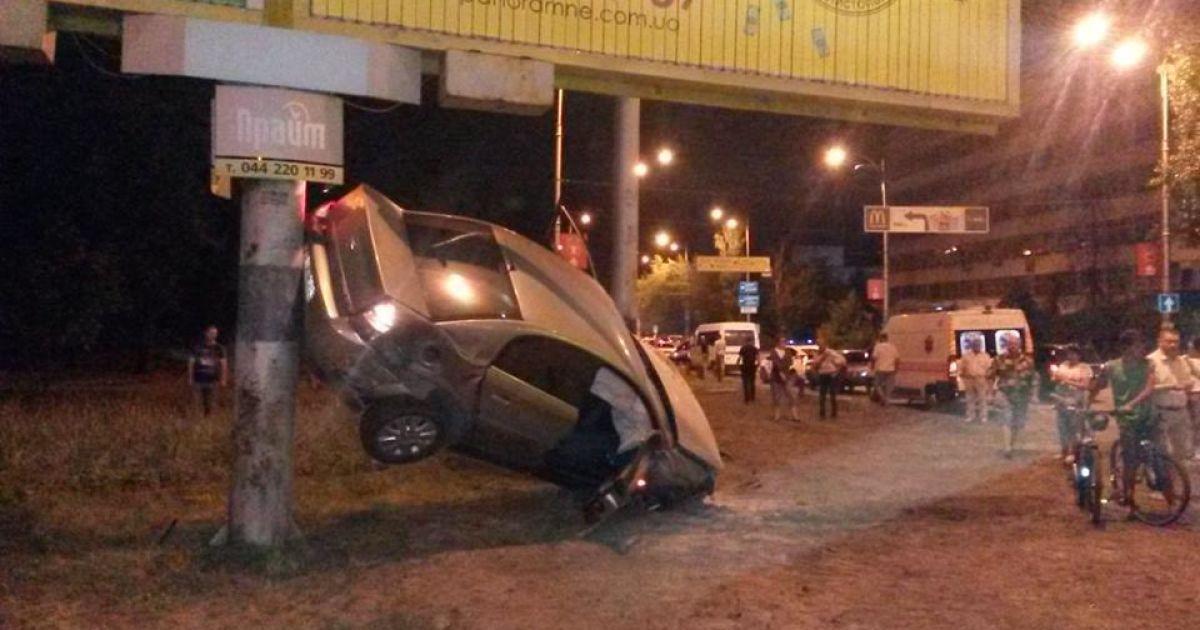 ДТП произошло на проспекте Гагарина. @ facebook/Дмитрий Гнап