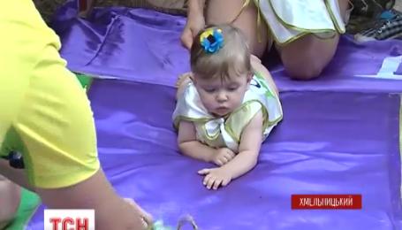 У Хмельницькому організували олімпійський забіг для малят у повзунах