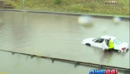 В США дороги превратились в реки