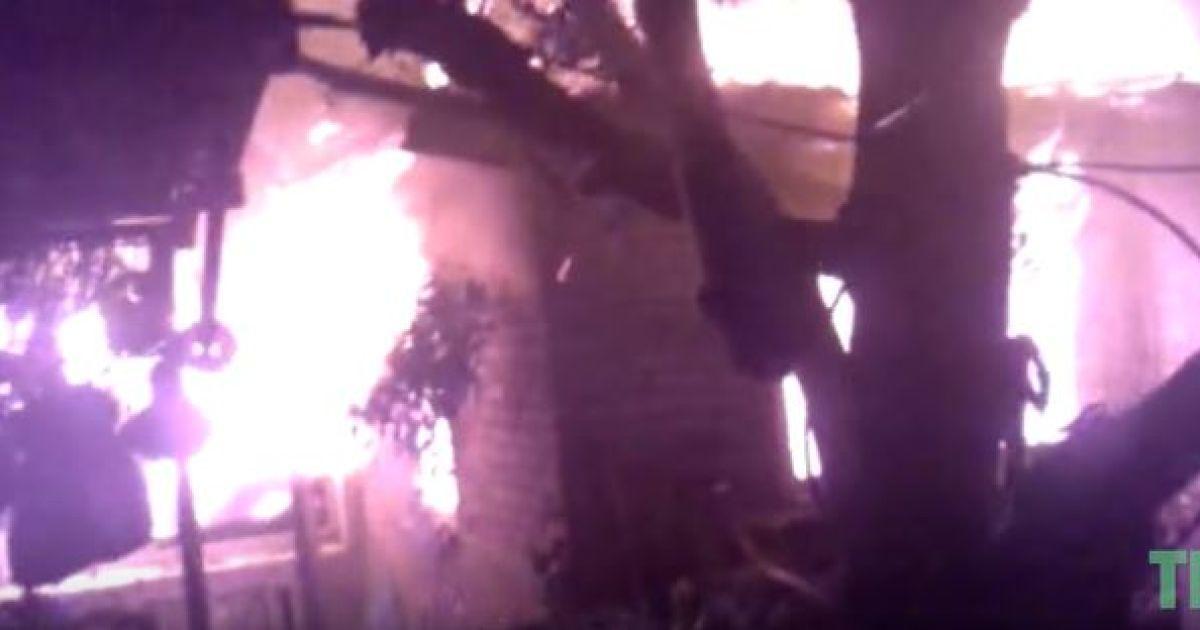 В Сети показали видео последствий мощных обстрелов Дзержинска