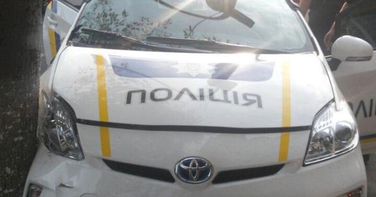 Патрульные попали в ДТП @ twitter.com/alexey_savkin