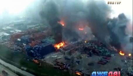 Взрыв на складе в Китае было видно из космоса