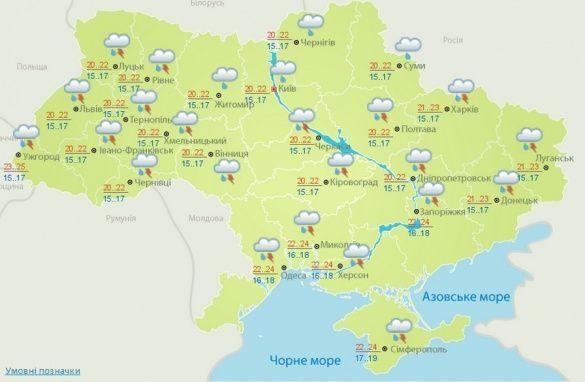 погода 19 серпня