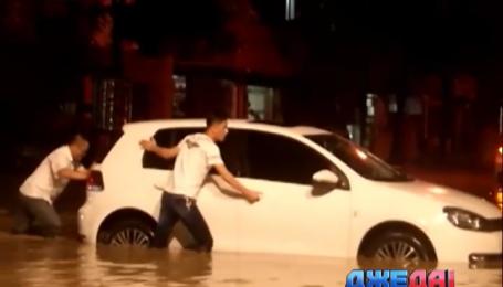 В Китае город ушел под воду