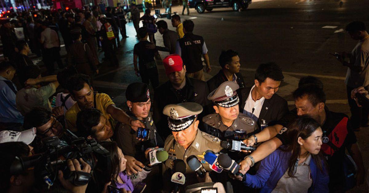 Место взрыва в Бангкоке. @ Getty Images