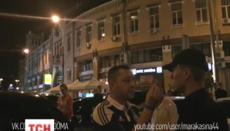 В Киеве внедорожник с дипломатическими номерами едва не наехал на полицейских