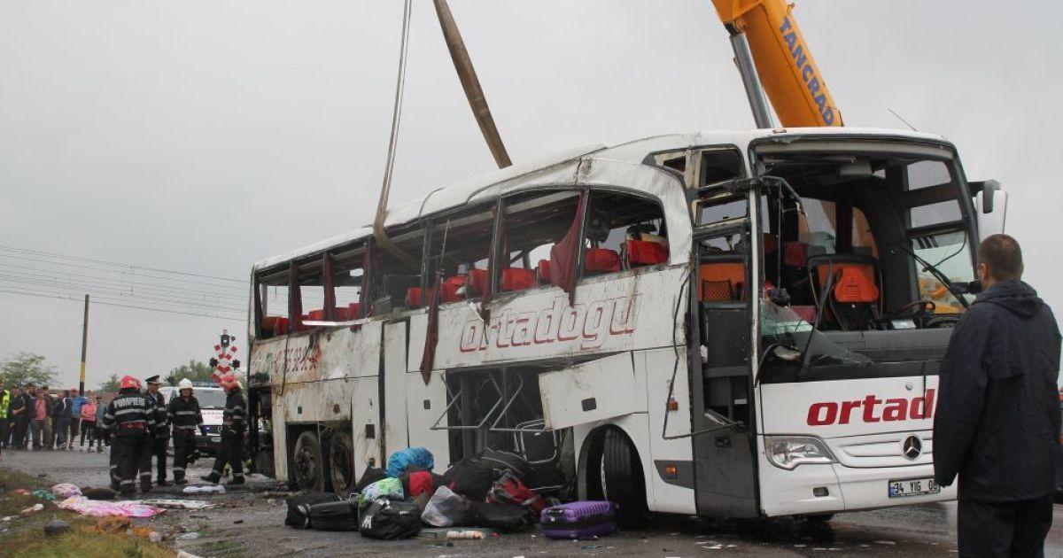 В аварии автобуса в Румынии погибли ребенок и взрослый - МИД