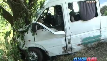Автобус с туристами попал в ДТП в Николаевской области