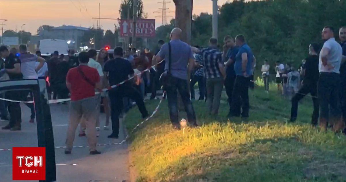 Появилось видео с места убийства полицейского в Днепре