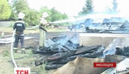В селе Мазурово Николаевской области полностью сгорела церковь