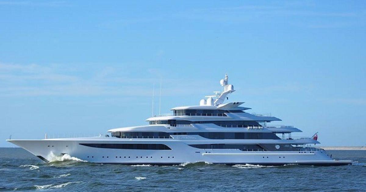 Новая яхта Медведчука стоит около 180 миллионов евро. @ Украинская правда