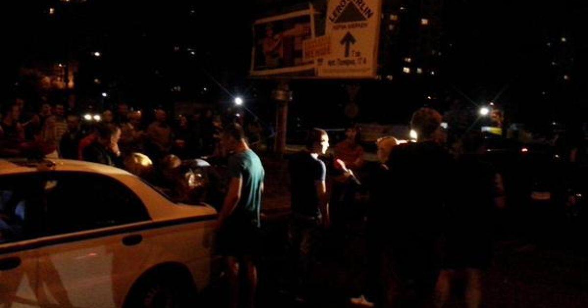 В ДТП на Героев Сталинграда столкнулись 5 машин. @ twitter/auto_kiev