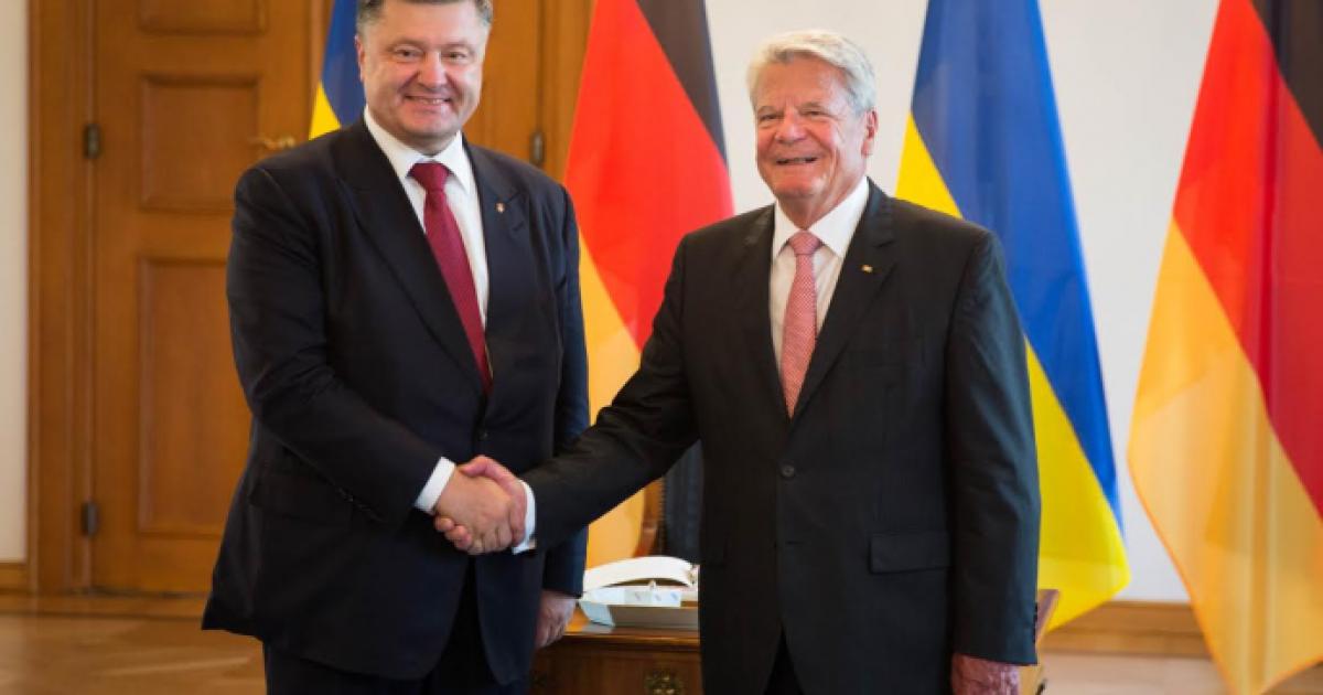 Украинский и немецкий президенты обсудили Минские соглашения и проблемы мигрантов