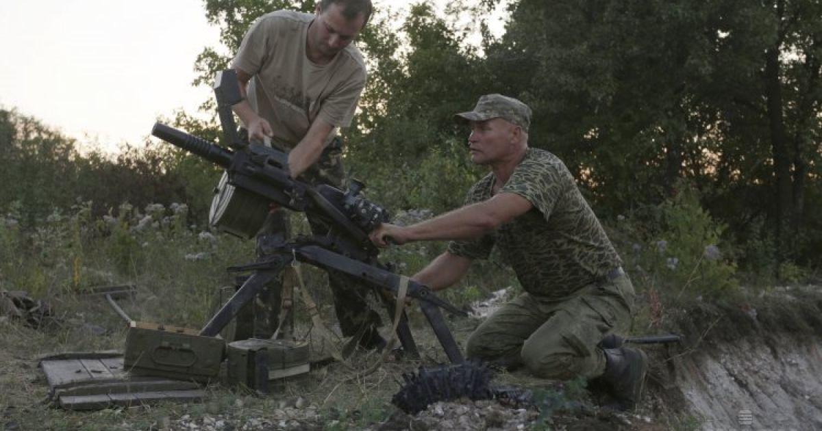 Украинские военнослужащие в зоне проведения АТО вблизи Авдеевки. Ситуация на Донбассе продолжает быть напряженной, в ночь перед Днем Независимости боевики усилили обстрелы позиций украинских военных. @ УНИАН