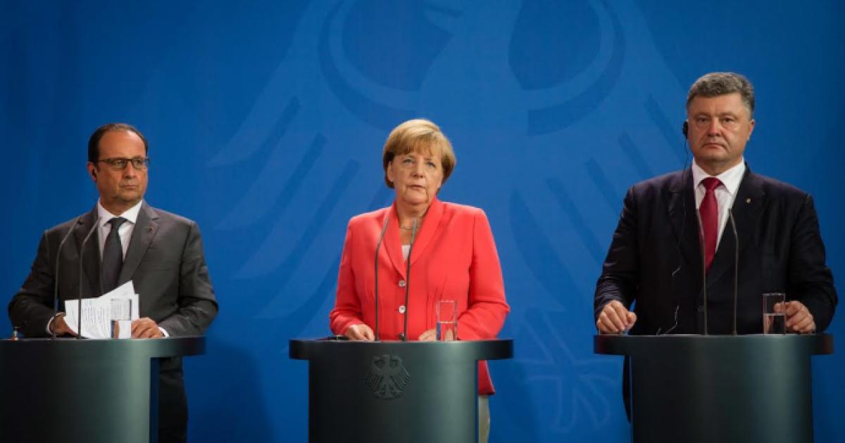 Заявление Порошенко после переговоров с Меркель и Олландом. Полный текст