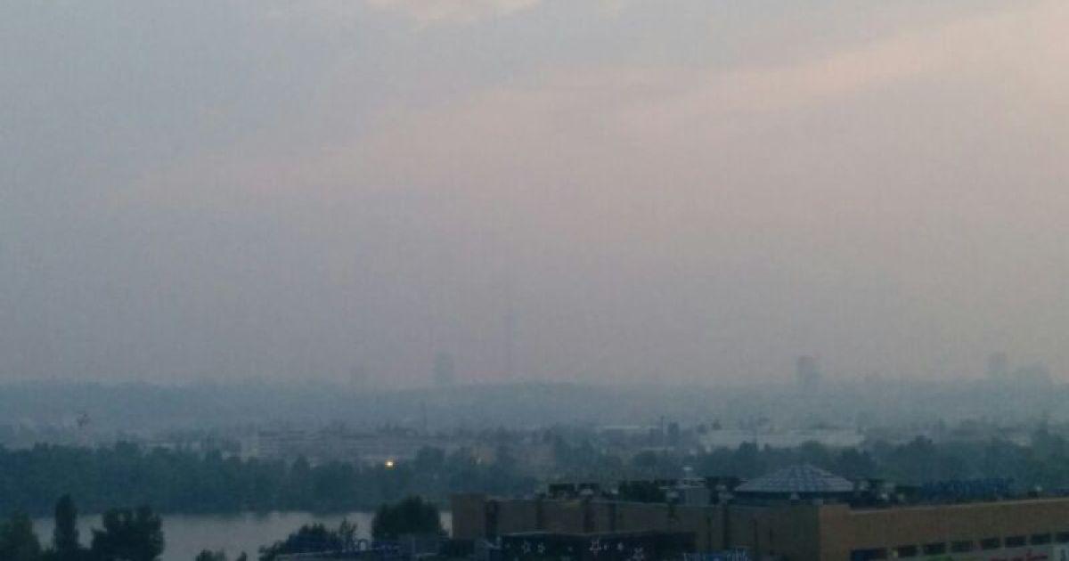 До вечора дим з'явився по всьому місту @ ТСН.ua
