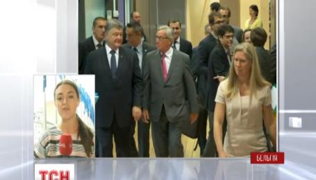 Продлить санкции ЕС и отменить визовый режим для Украины обещали Порошенко в Брюсселе