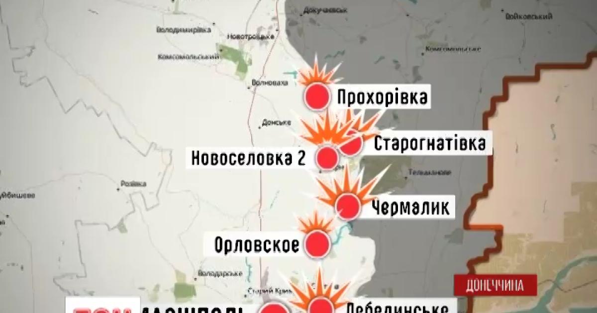 Журналистов не пустили на обстрелянные позиции под Мариуполем
