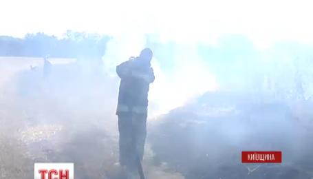 В 50 километрах от Киева удалось локализовать опасный пожар