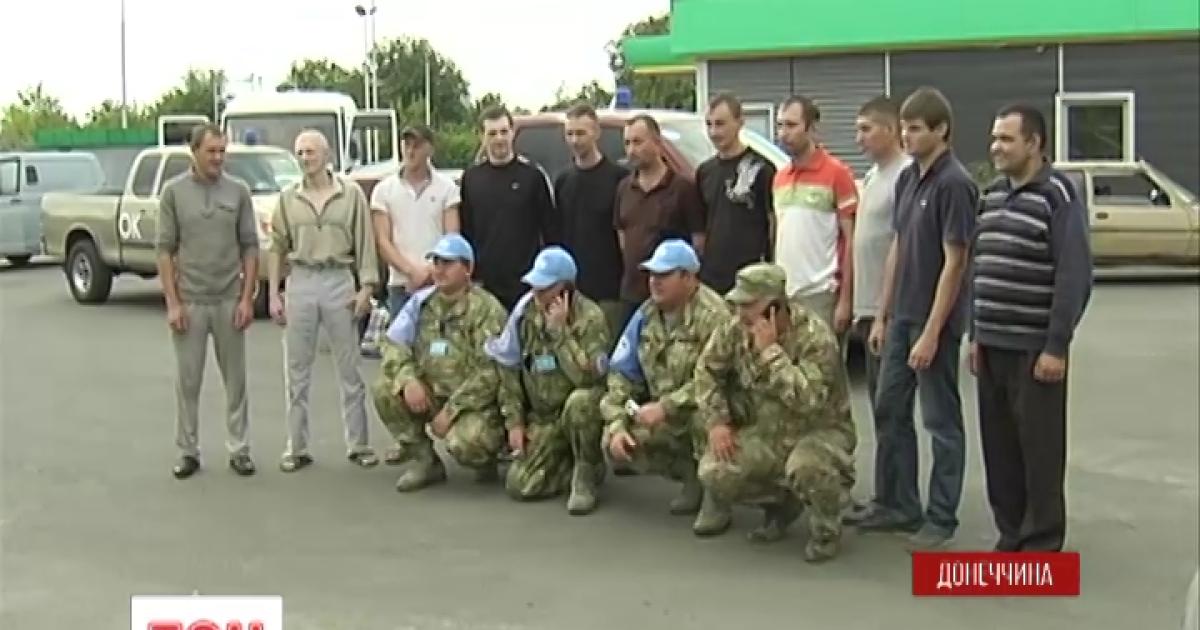 Стали известны имена всех 12 украинцев, которых сегодня освободили из плена боевиков