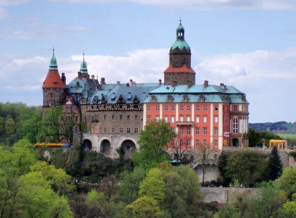 Замок Ксенж біля Валбжиха в Польщі