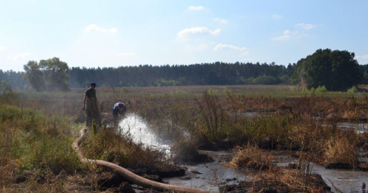 На Киевщине горит 30 гектаров торфяников @ ГСЧС