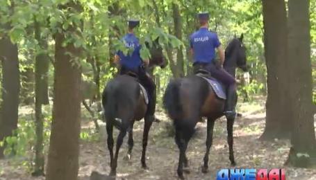 Конный патруль охраняет порядок в четырех столичных парках