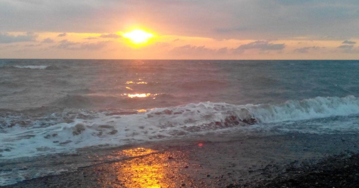 Захід сонця в Анаклії @ Фото: Дмитро Стефурак