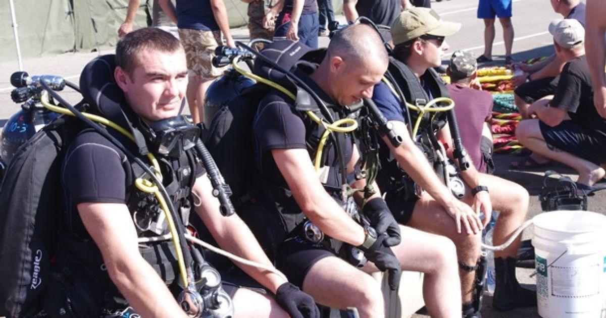 Все работы проводились на глубине до 10 метров @ Минобороны Украины