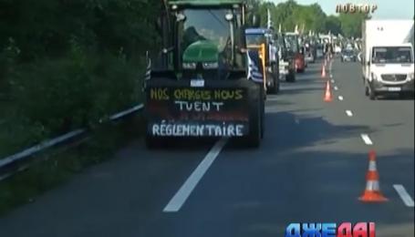 Фермеры заблокировали дороги в Париже