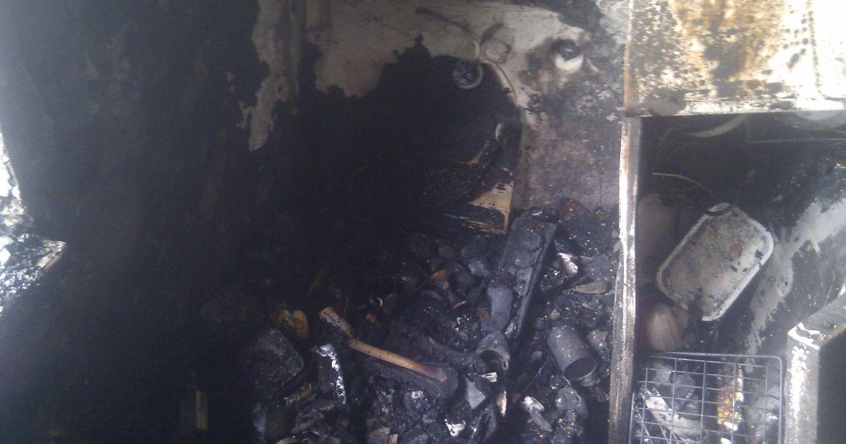 Несколько квартир выгорело @ facebook.com/MNS.GOV.UA