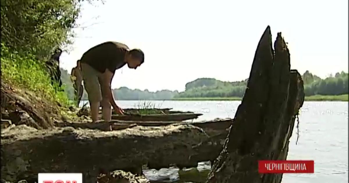 Обмеление реки Десны помогло найти баржу конца XIX века