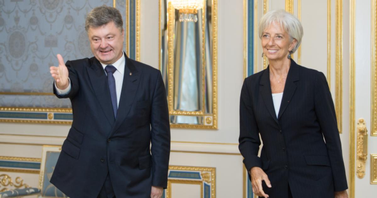 Порошенко проводит встречу с директором МВФ Кристин Лагард